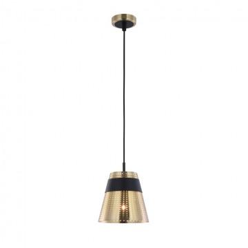 Подвесной светильник Maytoni Trento MOD614PL-01BS, 1xE27x40W, золото, черный, матовое золото, металл