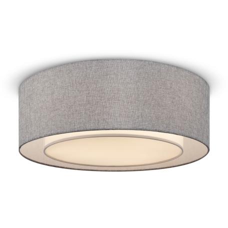 Потолочный светильник Maytoni Modern Bergamo MOD613CL-04GR, 3xE27x60W, хром, серый, металл, текстиль