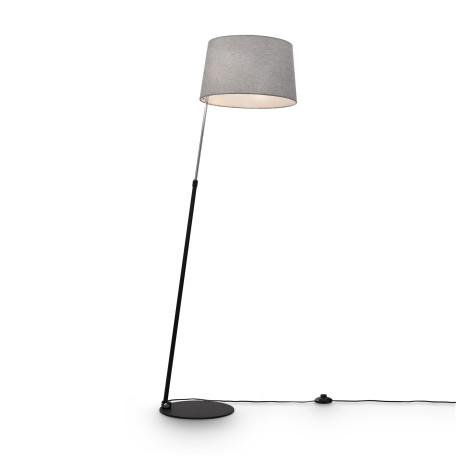 Торшер Maytoni Bergamo MOD613FL-01B, 1xE27x60W, хром, черный, серый, металл, текстиль