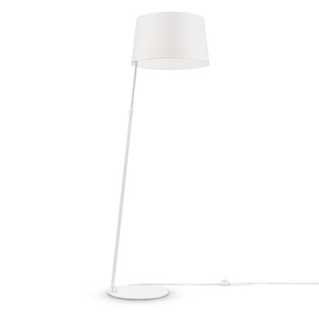 Торшер Maytoni Modern Bergamo MOD613FL-01W, 1xE27x60W, белый, бежевый, металл, текстиль