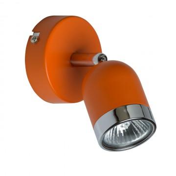 Потолочный светильник с регулировкой направления света De Markt Орион 546020901, 1xGU10x35W, оранжевый, хром, металл