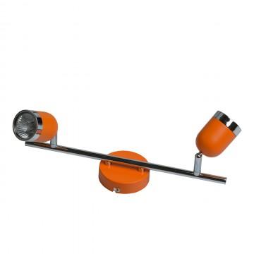 Потолочный светильник с регулировкой направления света De Markt Орион 546021002, 2xGU10x35W, оранжевый, хром, металл