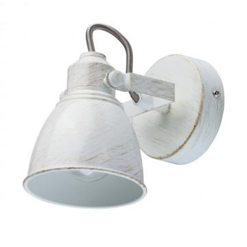 Потолочный светильник с регулировкой направления света De Markt Ринген 547020901, 1xE14x40W, белый с золотой патиной, металл