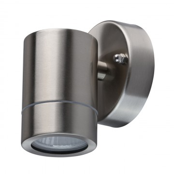 Потолочный светильник с регулировкой направления света De Markt Меркурий 807020701, IP65, 1xGU10x35W, сталь, прозрачный, металл, стекло