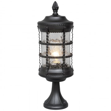 Садово-парковый светильник De Markt Донато 810040301, IP23, 1xE27x95W, черный, матовый, металл, стекло