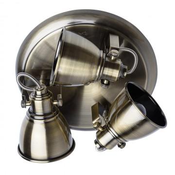 Потолочная люстра с регулировкой направления света De Markt Ринген 547020203, бронза, металл