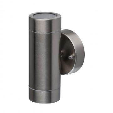 Настенный светильник De Markt Меркурий 807020501, IP65, сталь, прозрачный, металл, стекло