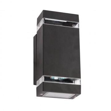 Настенный светильник De Markt Меркурий 807021102, IP44, черный, прозрачный, металл, пластик