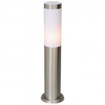 Уличный наземный светильник De Markt 809040201 Плутон, серый, матовый белый