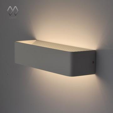 Настенный светодиодный светильник De Markt Котбус 492023302, LED 10W 4000K (дневной), белый, металл, пластик