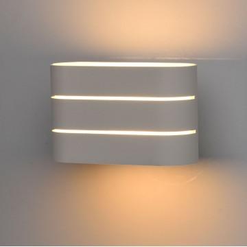 Настенный светодиодный светильник De Markt Котбус 492024002, LED 2W 3000K (теплый), белый, матовый, металл, пластик