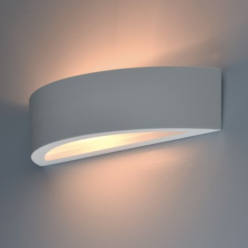Настенный светильник De Markt Барут 499021801, 1xE14x40W, белый, под покраску, гипс