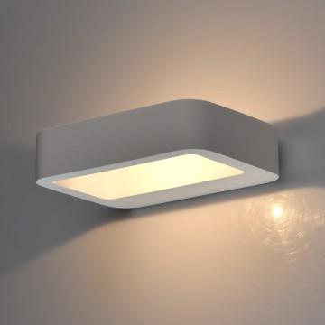 Настенный светодиодный светильник De Markt Барут 499022801, LED 1W 4000K (дневной), белый, под покраску, гипс