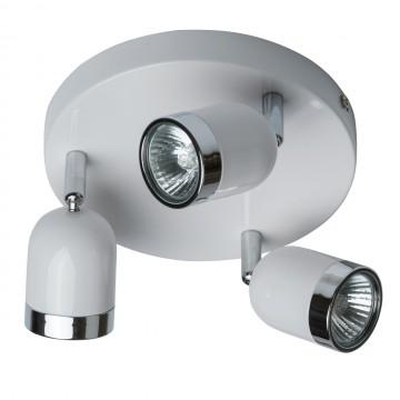 Потолочная люстра с регулировкой направления света De Markt Орион 546020703, 3xGU10x35W, белый, хром, металл