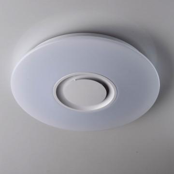 Музыкальный потолочный светодиодный светильник De Markt Норден 660012201, LED 48W 3200K/RGB (дневной), белый, металл, пластик
