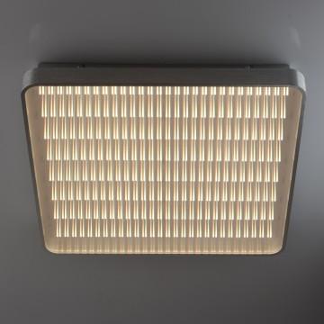 Потолочный светодиодный светильник с пультом ДУ De Markt Граффити 678011901, LED 50W 3000-6000K, серебро, матовый, 3D-эффект, металл, пластик