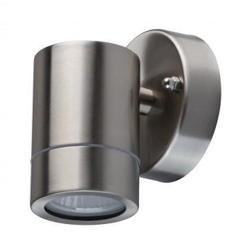 Настенный светильник De Markt Меркурий 807020701, IP65, 1xGU10x35W, сталь, металл, стекло