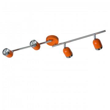 Потолочный светильник с регулировкой направления света De Markt Орион 546021204, 4xGU10x35W, оранжевый, металл