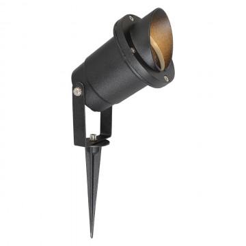 Прожектор с колышком De Markt Титан 808040401, IP65, черный, прозрачный, металл, стекло
