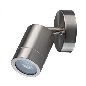 Настенный светильник с регулировкой направления света De Markt Меркурий 807020601, IP65, 1xGU10x35W, сталь, металл, стекло