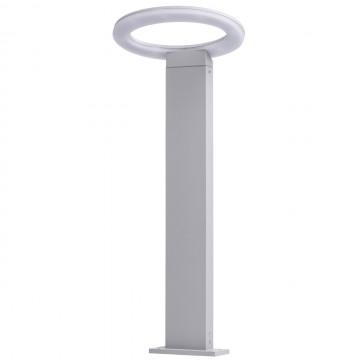 Садово-парковый светодиодный светильник De Markt Меркурий 807041501, IP44, LED 7W 4000K (дневной) 630lm, серый, металл, пластик