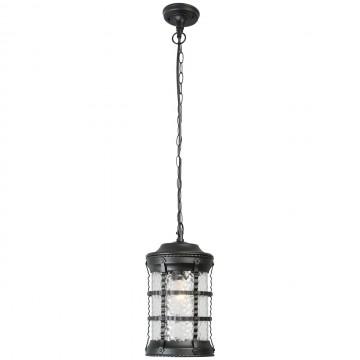 Подвесной светильник De Markt Донато 810010401, IP23, 1xE27x95W, черный, матовый, металл, стекло