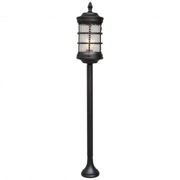 Уличный фонарь De Markt Донато 810040501, IP23, 1xE27x95W, черный, матовый, металл, стекло