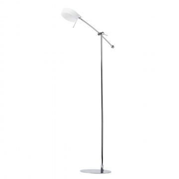 Светодиодный торшер De Markt Ракурс 631040501, LED 5W, хром, белый, металл, стекло, пластик