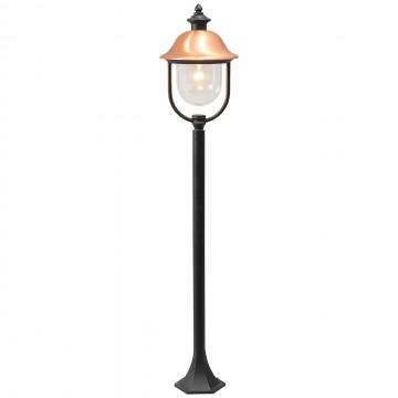 Уличный фонарь De Markt Дубай 805040501, IP44, 1xE27x95W, черный, медь, прозрачный, металл, металл с пластиком