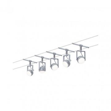 Тросовая система освещения Paulmann OrbLED 3983, LED 20W, матовый хром, металл, пластик