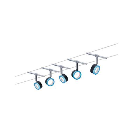 Тросовая система освещения Paulmann BlueLED 3982, LED 20W, черный, синий, металл, пластик