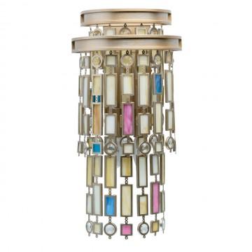 Бра MW-Light Марокко 185020503, 3xE14x40W, матовое золото, разноцветный, металл, стекло