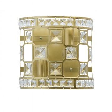 Настенный светильник MW-Light Монарх 121021402, 2xE14x40W, перламутровый, прозрачный, металл, хрусталь