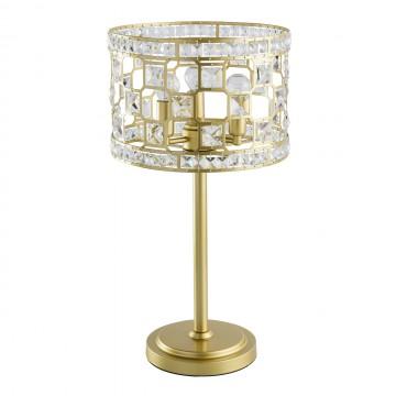 Настольная лампа MW-Light Монарх 121031703, 3xE14x40W, матовое золото, металл, металл с хрусталем