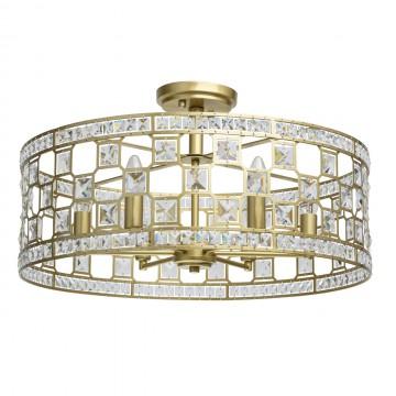 Потолочная люстра MW-Light Монарх 121011606, 6xE14x40W, матовое золото, металл, металл с хрусталем
