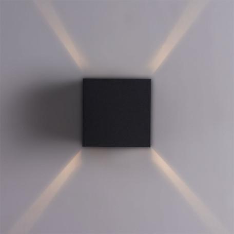 Настенный светодиодный светильник Arte Lamp Instyle Rullo A1414AL-1BK, IP54, LED 6W 3000K 500lm CRI≥80, черный, металл