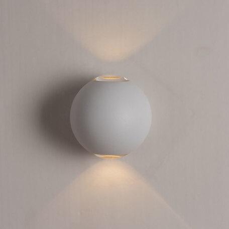 Настенный светодиодный светильник Arte Lamp Instyle Conrad A1544AL-2WH, IP54, LED 2W, 3000K (теплый), белый, металл, пластик