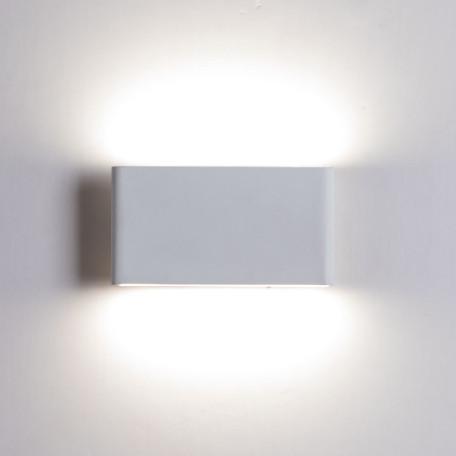 Настенный светодиодный светильник Arte Lamp Instyle Largo A2505AP-2WH, LED 12W, 4000K (дневной), белый, металл, пластик