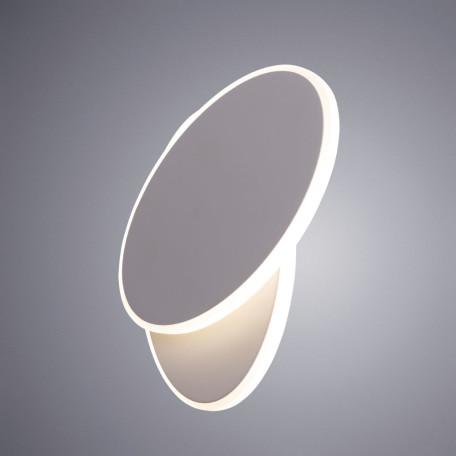Настенный светодиодный светильник Arte Lamp Instyle Eclipse Oval A2601AP-1WH, LED 15W 4000K 1100lm CRI≥80, белый, металл