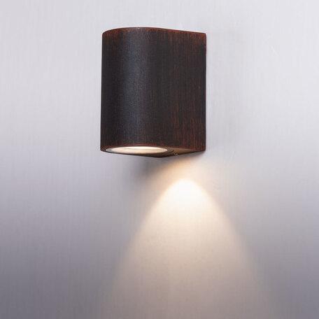 Настенный светодиодный светильник Arte Lamp Instyle Doppio A3502AL-1RI, IP54, LED 6W 3000K 450lm CRI≥80, коричневый, металл