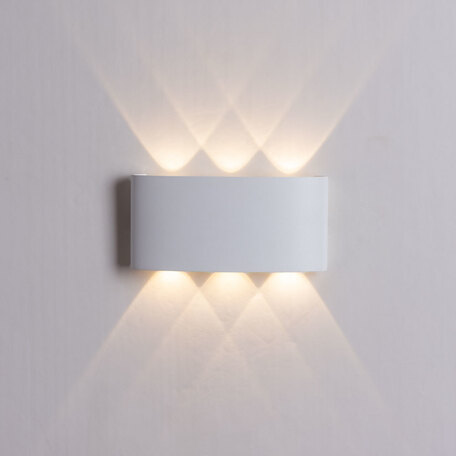 Настенный светодиодный светильник Arte Lamp Instyle Bosto A3722AL-2WH, IP54, LED 6W 3000K 360lm CRI≥80, белый, металл