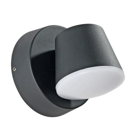 Настенный светодиодный светильник с регулировкой направления света Arte Lamp Instyle Chico A2212AL-1BK, IP54, LED 6W 4000K 360lm CRI≥80, черный, металл