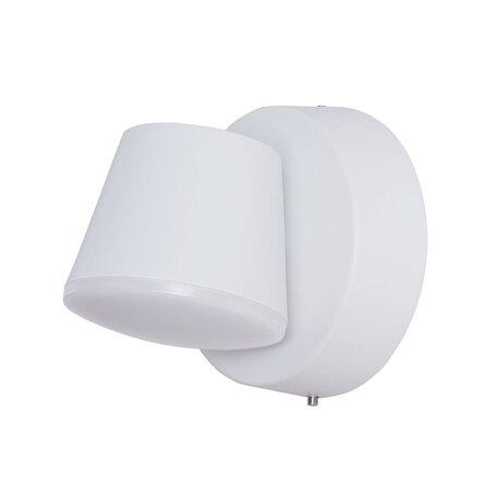 Настенный светодиодный светильник с регулировкой направления света Arte Lamp Instyle Chico A2212AL-1WH, IP54, LED 6W 4000K 360lm CRI≥80, белый, металл