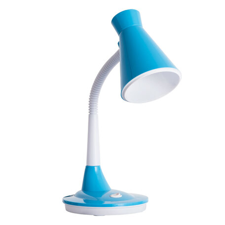 Настольная лампа Arte Lamp City Desk A2007LT-1BL, 1xE27x15W, голубой, пластик