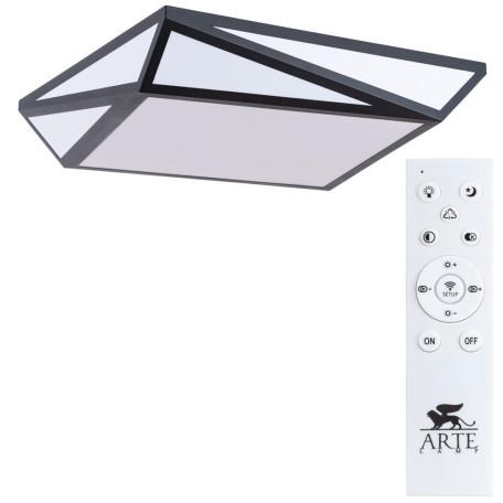 Потолочный светодиодный светильник Arte Lamp City Multi-Piazza A1929PL-1BK, LED 60W 3000-6000K 3600lm CRI≥80, черный, черно-белый, металл с пластиком