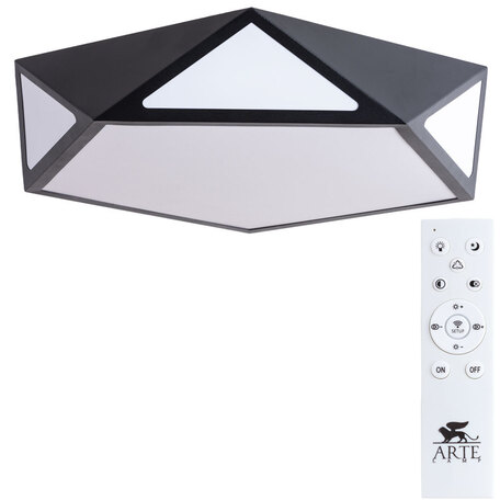 Потолочный светодиодный светильник с пультом ДУ Arte Lamp City Multi-Piazza A1931PL-1BK, 3000-6000K, белый, черный, металл, пластик