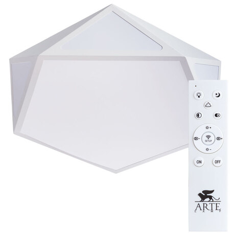 Потолочный светодиодный светильник с пультом ДУ Arte Lamp City Multi-Piazza A1931PL-1WH, 3000-6000K, белый, металл, пластик