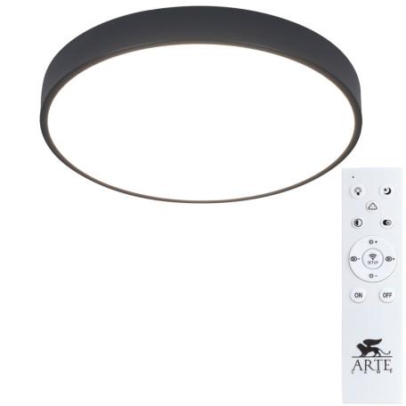 Потолочный светодиодный светильник с пультом ДУ Arte Lamp City Arena A2661PL-1BK, 2700-4500K, белый, черный, металл, пластик
