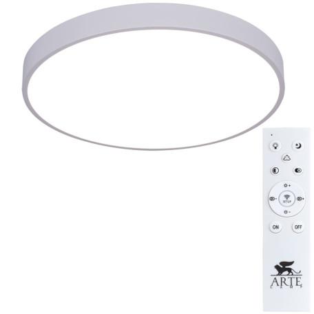 Потолочный светодиодный светильник с пультом ДУ Arte Lamp City Arena A2670PL-1WH, 2700-4500K, белый, металл, пластик