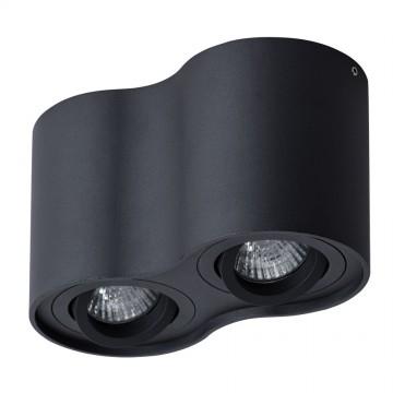 Потолочный светильник Arte Lamp Instyle Falcon A5645PL-2BK, 2xGU10x50W, черный, металл